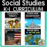 Kindergarten and first Grade Social Studies UNITS   YEAR BUNDLE Curriculum