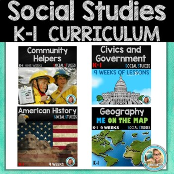 Kindergarten and first Grade Social Studies UNITS   YEAR BUNDLE Curriculum