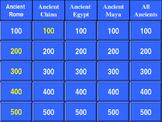 Social Studies Game: Ancient Civilizations Jeopardy