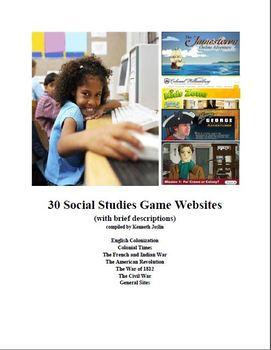 30 Social Studies Game Websites for 5th Grade