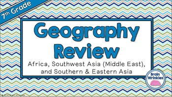 Social Studies Geography GMAP Review - 7th Grade