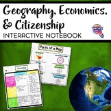 Social Studies Geography Economics Citizenship Interactive Notebook Unit 6th Gr