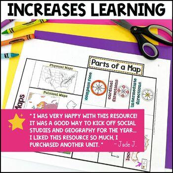 Social Studies Geography Economics Citizenship Interactive Notebook Unit 6th Gr