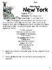 Social Studies Geography New York State Morning Work/ Discussions/ Activities