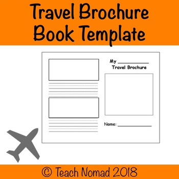 Social Studies Geography Travel Brochure Book Template Blank By