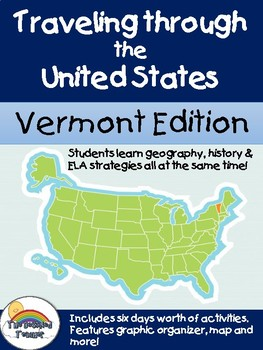 Social Studies Geography Vermont State Morning Work/ Discussions/ Activities