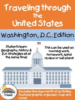 Social Studies Geography Washington D.C.  Morning Work/ Discussions/Activities