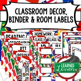 SECONDARY CLASSROOM DECOR, BINDER LABELS, ALL SUBJECTS, Wo