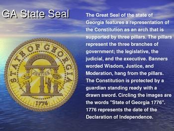 Social Studies: Georgia's State Symbols PowerPoint Lesson