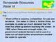 Social Studies - Global Non/Renewable Resources PowerPoint
