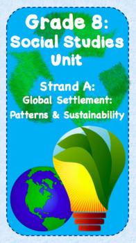 Gr. 8 Social StudiesUnit- Global Settlement: Patterns & Sustainability FULL UNIT