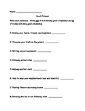 Social Studies Good Citizen Worksheet