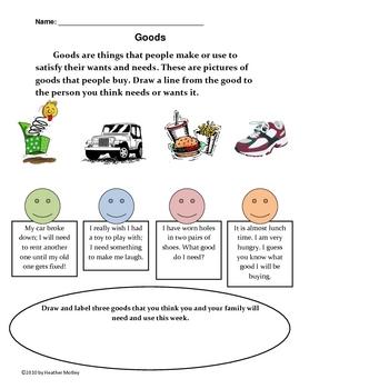 Social Studies: Goods and Services Bundle