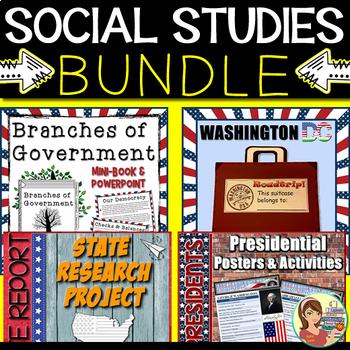 Social Studies State Report & Government BUNDLE