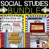Social Studies State Report & Government BUNDLE