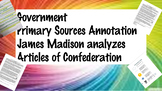Social Studies Government Madison Articles of Confederatio