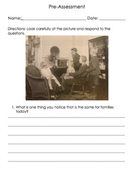 Social Studies Grade 1 Unit 2- Families, Now and Long Ago (EDITABLE)