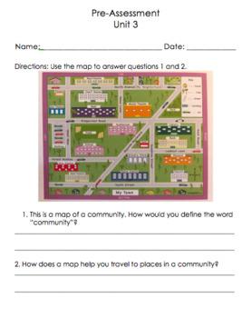 Social Studies Grade 1 Unit 3- The Community (EDITABLE)