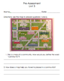 Social Studies Grade 1 Unit 3- The Community (EDITABLE)