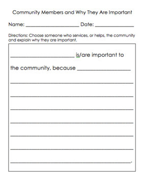 Social Studies Grade 1 Unit 4- Community Economics (EDITABLE)