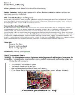 Social Studies Grade 1 Unit 4- Community Economics (EDITABLE)