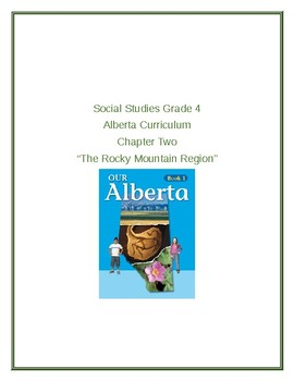 """Social Studies Grade 4 Alberta Curriculum Chapter Two """"The Rocky Mountain Region"""