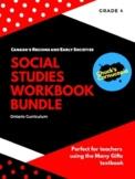 Social Studies - Grade 4 Workbook Bundle - Canada's Regions and Early Societies