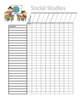 Social Studies Grade Sheet