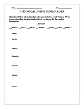 Social Studies Graphic Organizer-Freebie!