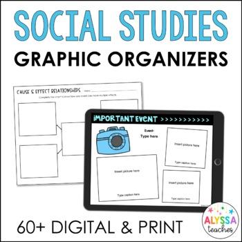 Digital Social Studies Graphic Organizers