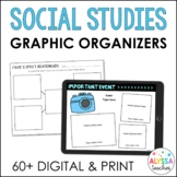 Social Studies Graphic Organizers (Digital & Print)