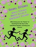 Social Studies Guest or Substitute Teacher Binder Set-up &