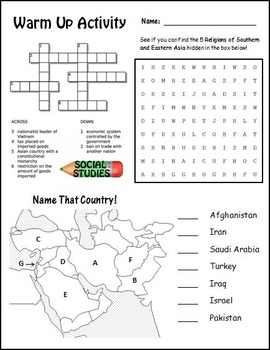 Bright image within 7th grade social studies worksheets free printable