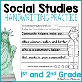 Social Studies Handwriting Practice