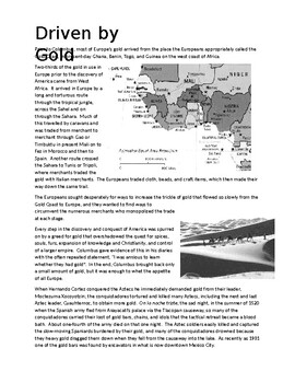 Social Studies / History - Driven by Gold (reading lesson)