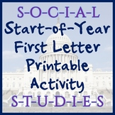 Social Studies First-Letter Printable - Great for Back to School!