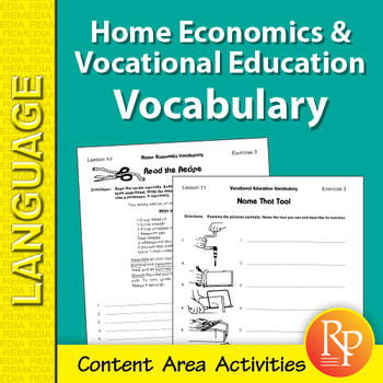 Home Economics & Vocational Education: Content Area Vocabulary Unit