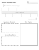 Social Studies History Graphic Organizers and Notes