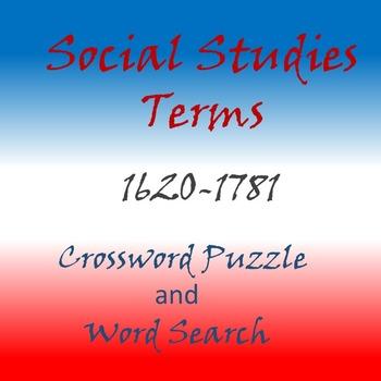 Social Studies, History Terms 1620-1781