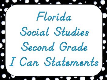 Social Studies I Can Statement Posters