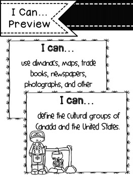 """Social Studies """"I Can"""" Statements"""