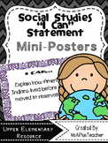 "Social Studies ""I Can"" Statements"