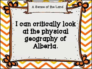 Social Studies I Can Statements - Alberta