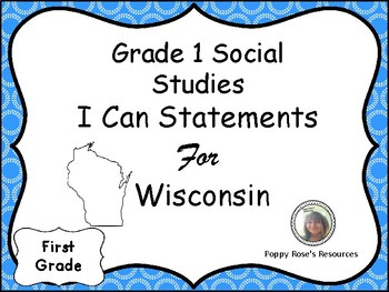 Social Studies I Can Statements For Grade 1 Wisconsin