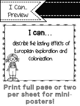 "Social Studies ""I Can"" Statements (Nerds)"