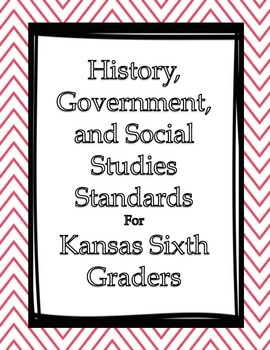 Social Studies I Can Statements Posters