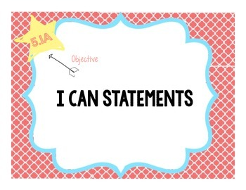Social Studies I Can Statements, Teks