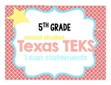 Social Studies I Can Statements, Teks