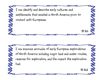 Social Studies I Can statements