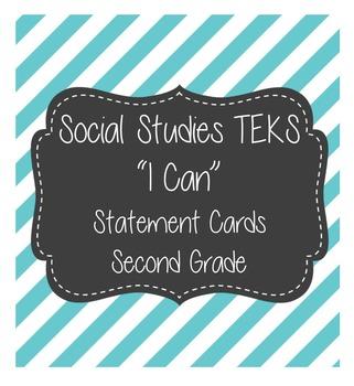 """Social Studies """"I Cans"""" TEKS 2nd Grade"""